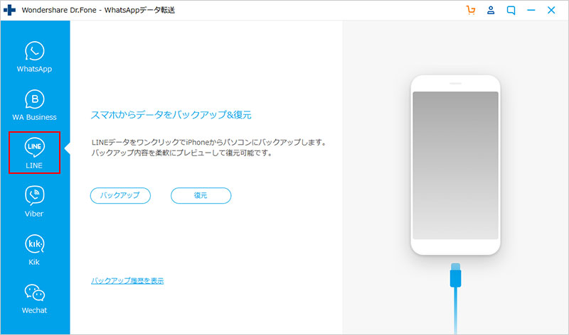 backup line data on iPhone or iPad