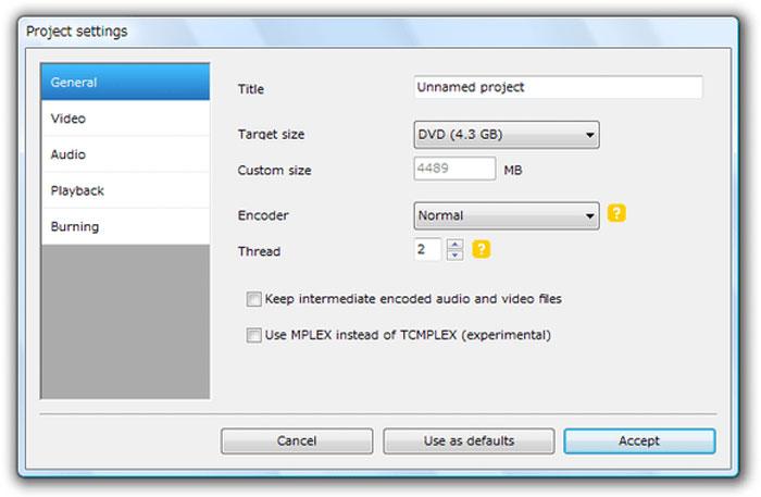 簡単にディスクに書き込むならDVDFlickを使おう
