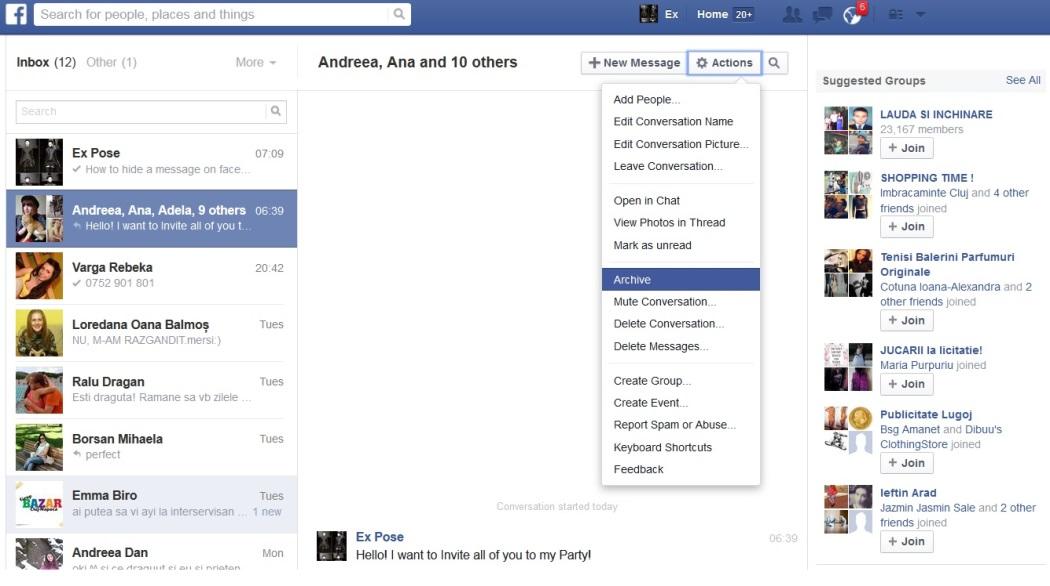 Facebookメッセージのアーカイブ・アーカイブ解除するためのガイド