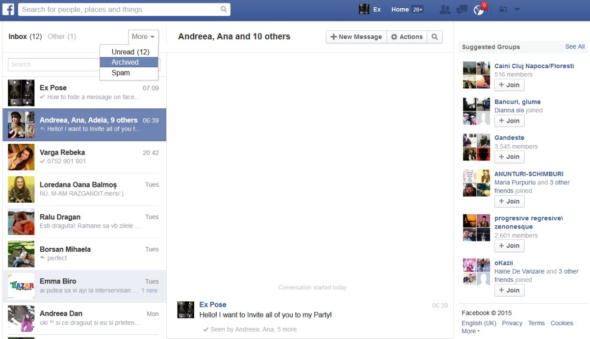Facebook Messengerの古いメッセージを回復する