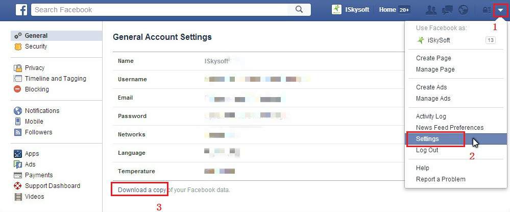 コンピュータにFacebookメッセージを保存するための3つの方法