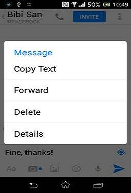 アンドロイド用Facebook Messengerでメッセージを送る方法