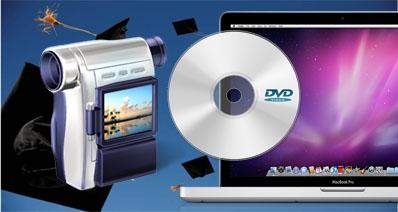 Mac上でカメラからDVDにデータを転送する方法
