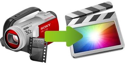 ビデオカメラからFinal Cut Proにビデオをインポート