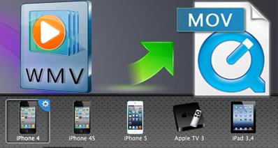Mac OS XでWMVをMOV動画に変換する方法