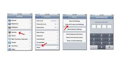 iPhoneを初期化して工場出荷時の状態にする方法