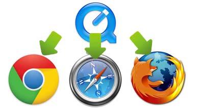 Chrome・Firefox・Internet Explorer (IE)のためのQuickTimeプラグイン