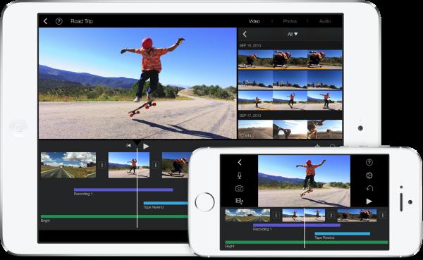 iOSデバイスでもiMovieアプリ使う事ができる