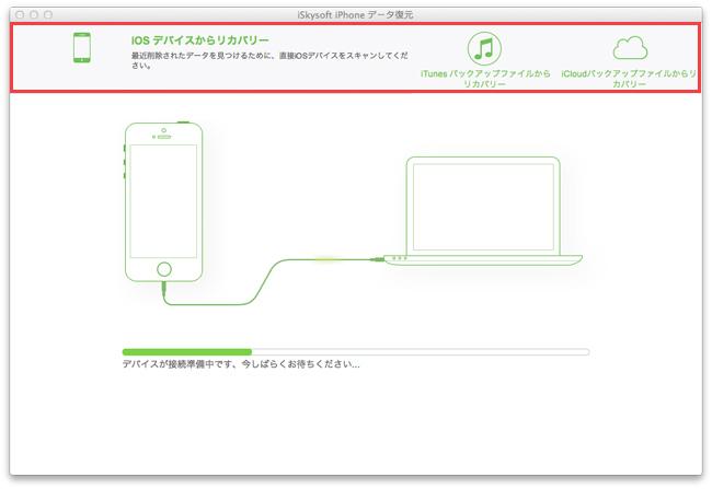 mac iphoneデータ復元モード
