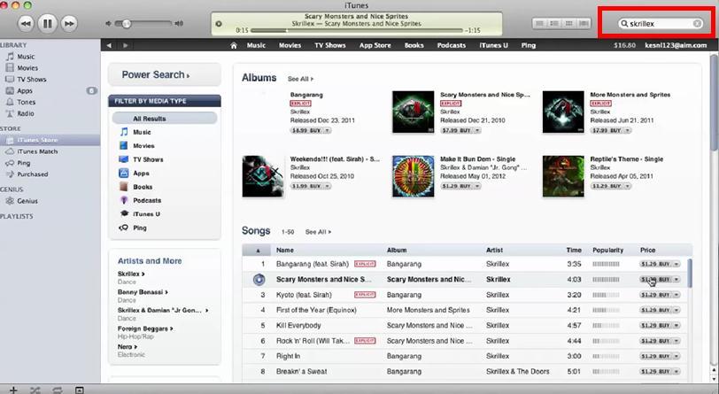 iTunes12で音楽を購入する