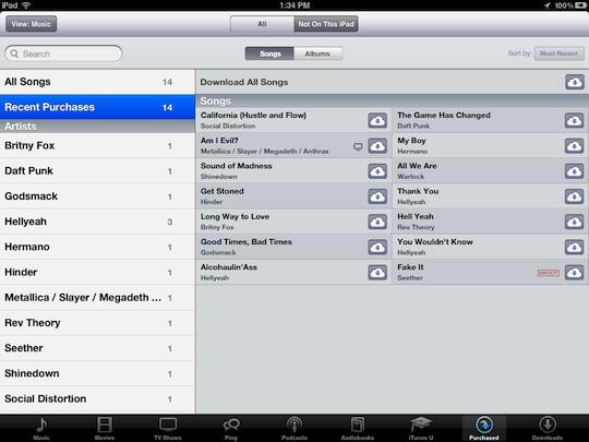 iPhone6/PlusからiPadへiCloudで購入した音楽を転送