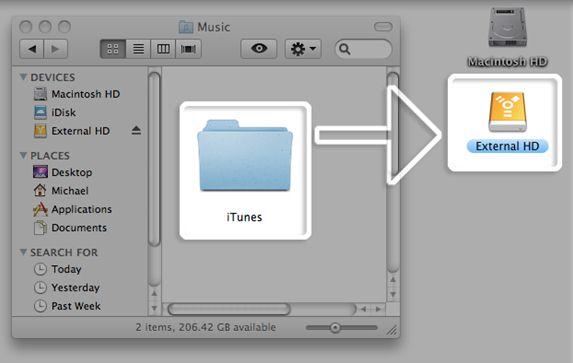 パソコンから外付けハードドライブへiTunes12ライブラリを転送する方法