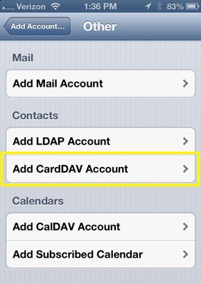 iPhone6/PlusでGmailに連絡先を転送