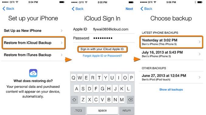 iPhone6/PlusからiPhone6/Plusにメッセージを転送