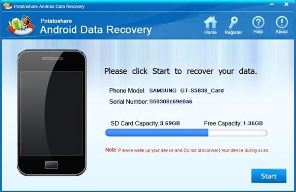 Potatoshare Android Data Recovery