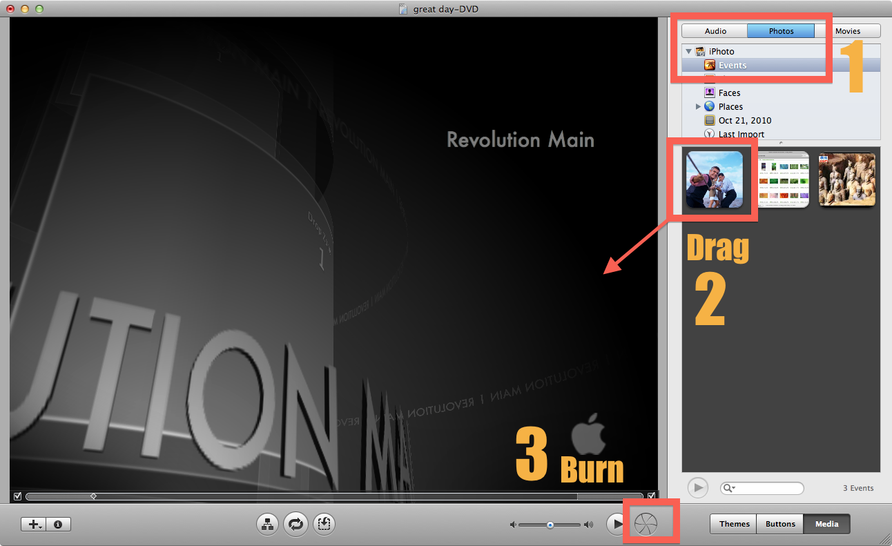 Burn iPhoto to iDVD