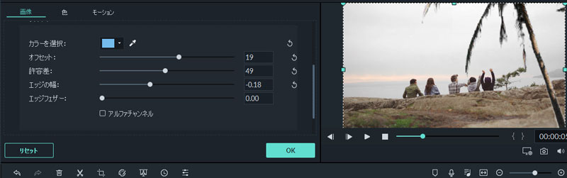 動画のクロマキー合成する