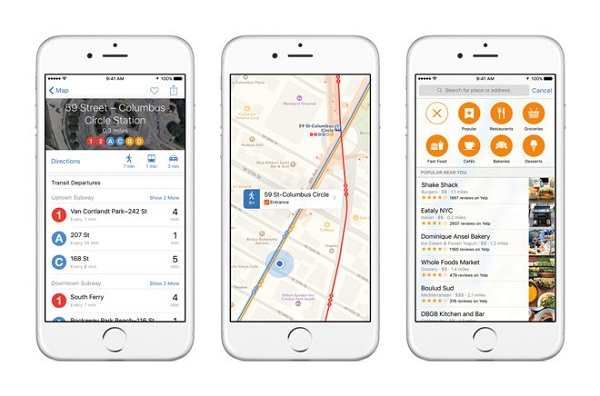 ios 9 地図アプリ