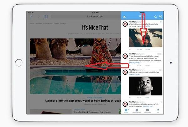 Ios 9 iPad Pro スライドオーバー