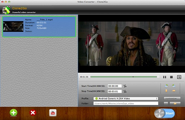 Clone2Go Video Converter for Mac