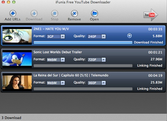 iFunia Free YouTube Downloader for Mac