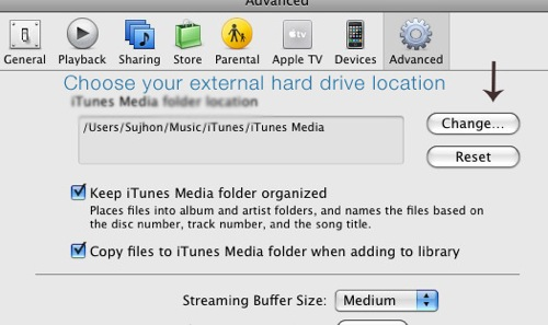 iTunes バックアップ
