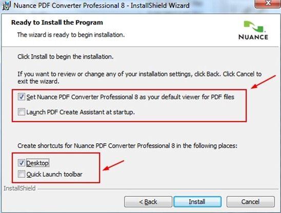 Nuance PDF converter インストール