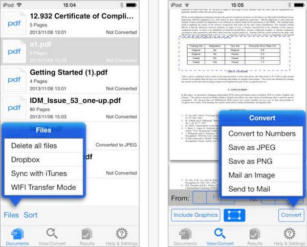 iPad,iPhoneでPDFをNumbersに変換