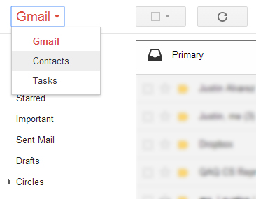 Gmailの連絡先をiPhoneに転送