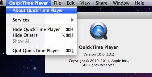 QuickTimeアップデート