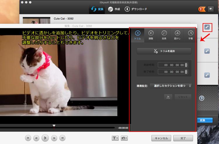 ipadに取り込む前に、DVDビデオを編集する