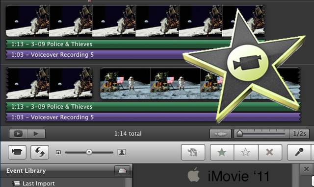 iMovieを使った圧縮