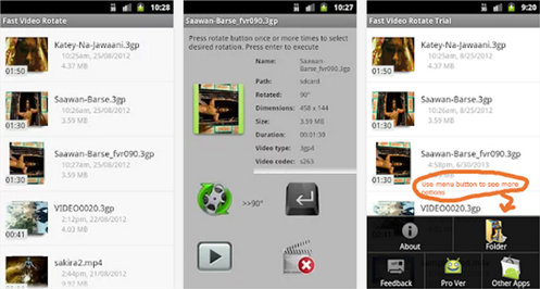 Android動画回転アプリ fast video rotate