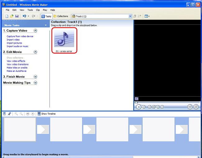Windows ムービーメーカーで動画にBGMを追加