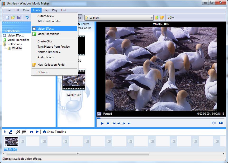 Windowsムービーメーカーでトランジション効果を追加する方法