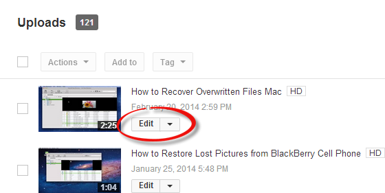 YouTubeで動画を回転
