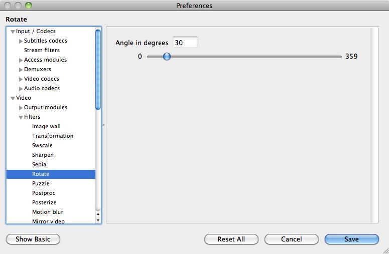 Mac VLC 動画を回転
