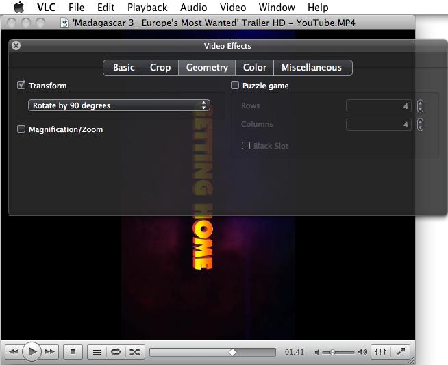 MacでVLCを使って動画を回転