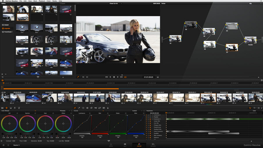 DaVinci Resolve Lite, for color correction