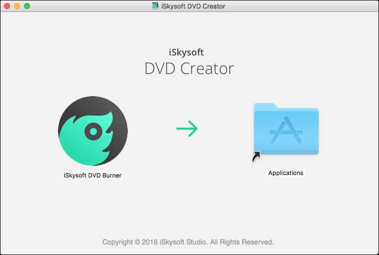 「iSkysoft DVD Burner For Macをインストール