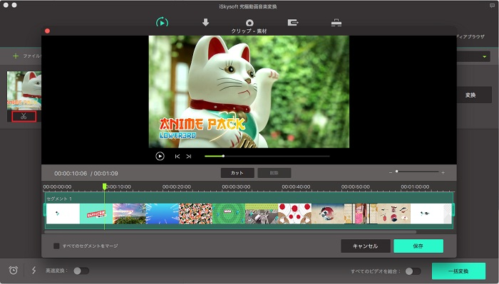 iSkysoft「究極の動画・音楽変換」