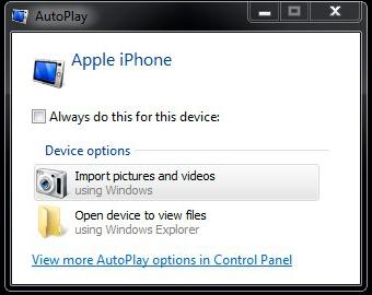 iPhone6からPCへ写真の同期