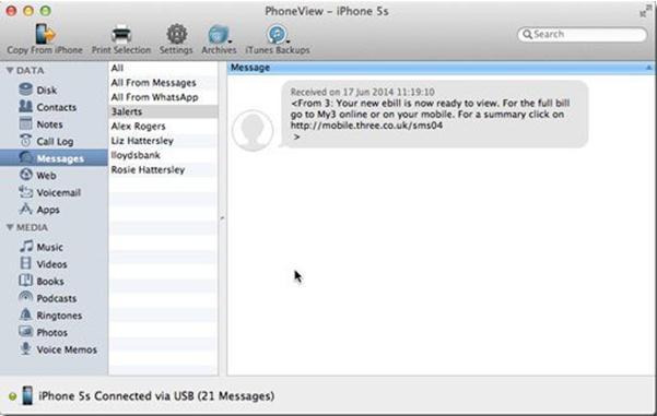iPhone6メッセージの同期
