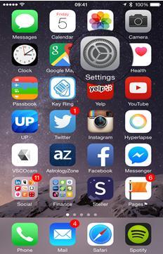 iPhone と iCloud の同期