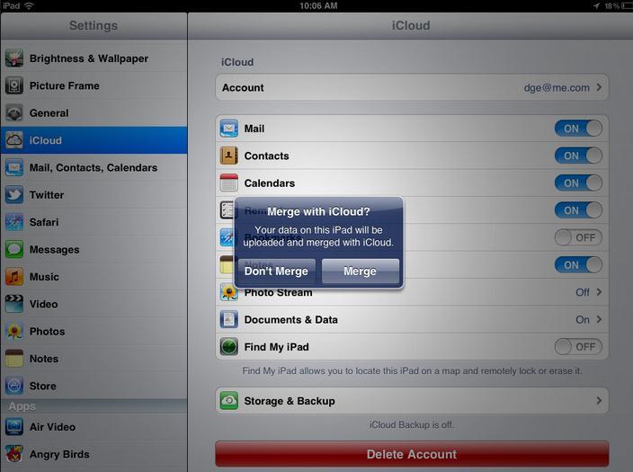 iCloudでiPhone 6 と iPad Air の同期