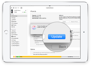 upgrade ios 9  through itunes