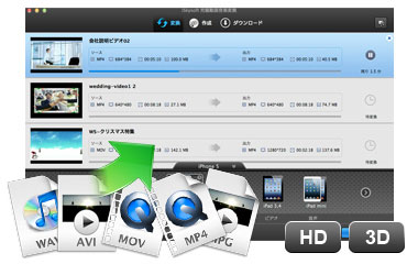 デバイス用の動画変換