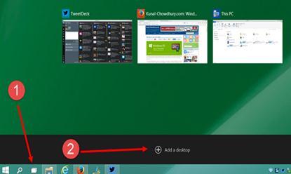 Windows 10のMultiple Desktopを使用する方法