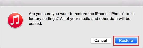 iTunesでiPadを復元