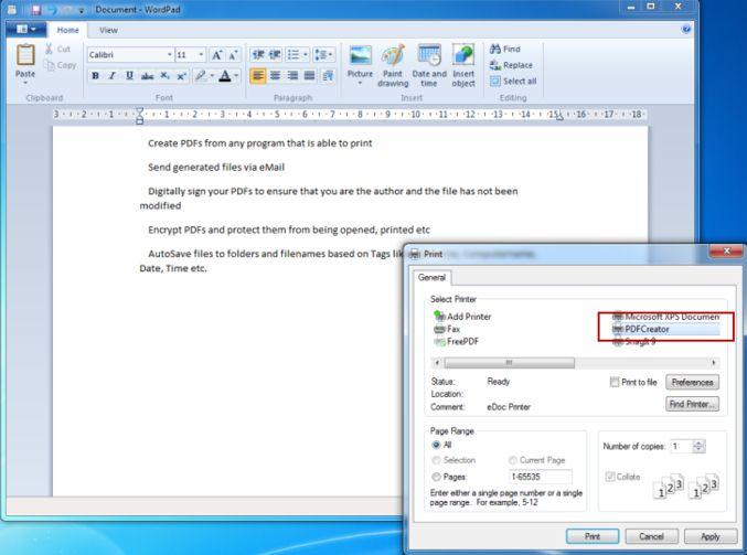 Windows 10のPDFプリンター